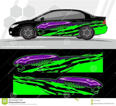 car  vehicles wrap decal graphics kit vector designs