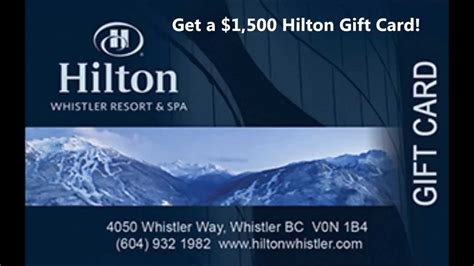 Hilton Hotels Gift Card - hotel gift cards get 1 500 hilton gift card us youtube