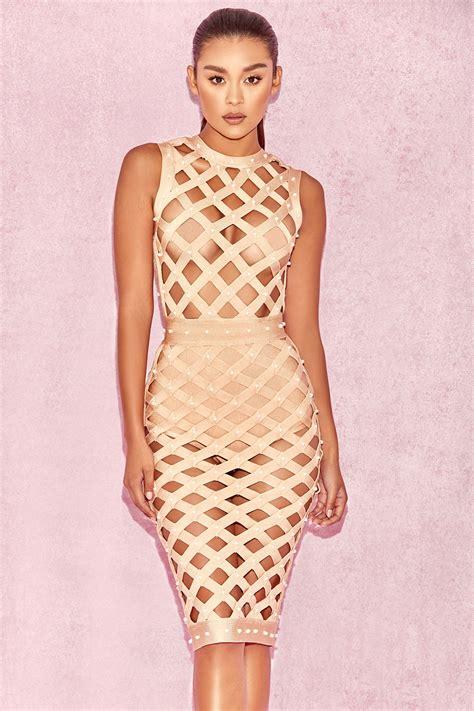 Cage Dress clothing bandage dresses felina pearl bandage