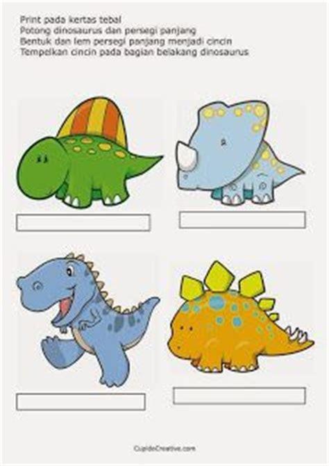Boneka Jari Dinosaurus 2 kerajinan anak boneka jari dinosaurus cupido creative