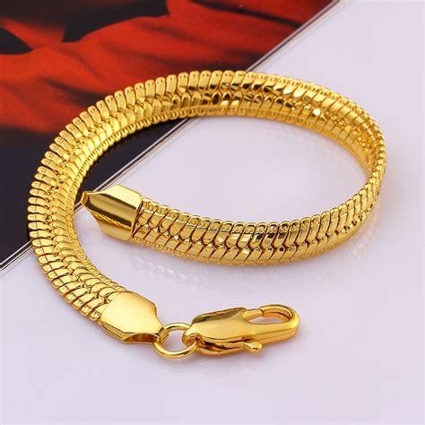 High Quality Kalung Rantai Titanium Gold Emas Pria Wanita Cewek gold bracelets mens authentic 6mm 14k solid gold