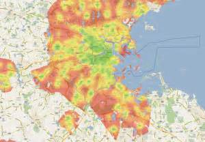Boston Heat Map by New England Walk Amp Don T Look Back Site Selection Online