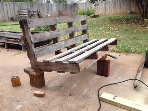 benches made from pallets 5 easy steps to turn a pallet into an outdoor patio bench