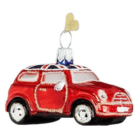 red mini cooper christmas ornament bombki tourism uk mini cooper glass hanging decoration minis and decoration