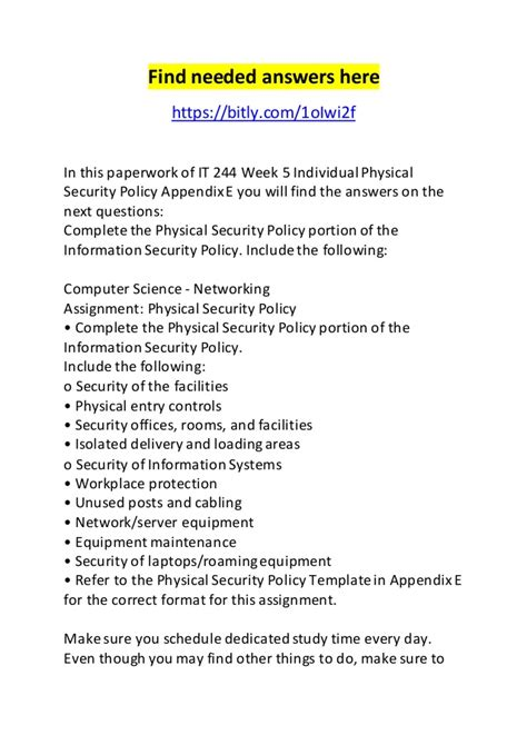 physical security policy template physical security policy template images template design