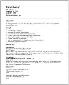Receptionist Objective On Resume by Travel And Tourism Industry Resume Exles