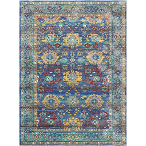 10 x 13 ft area rug nourison delmar blue 10 ft x 13 ft area rug 386946 the