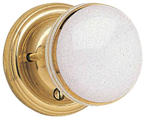 Gold Door Knobs by Door Knobs White W Gold Porcelain 2 3 8 Door Knob