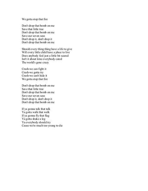 printable lyrics to jingle bombs brayan adams song lyrics