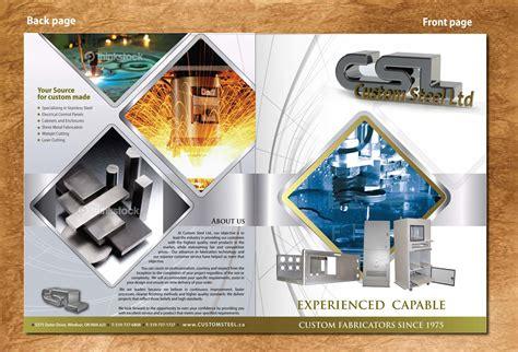 Graphic Design Jobs From Home modern masculine brochure design for custom steel ltd by