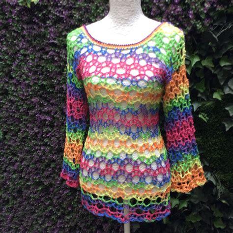 vestido de abanicos para ni 241 a parte 2 la falda vestidos tejidos a gancho vestido multicolor tejido en