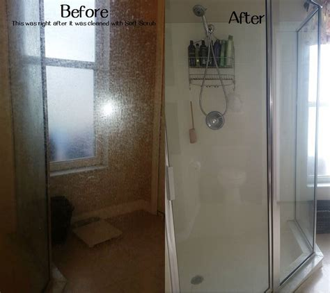remove soap scum hard water stains