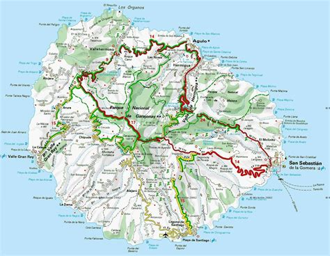 printable map tenerife large la gomera maps for free download and print high