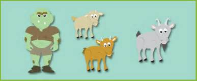 three billy goats gruff story cut outs free early years
