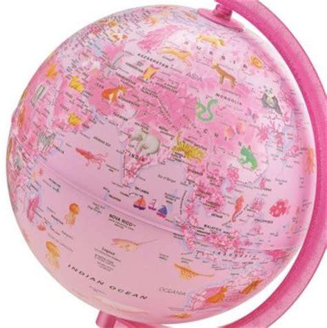 Pink Zoo zoo pink illuminated globe 25cm globes maps