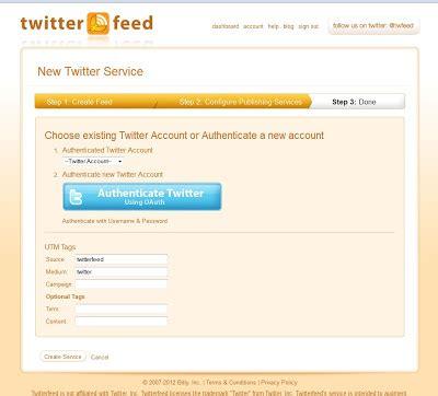 cara membuat twitter feed cara membuat bot auto retweet twitter