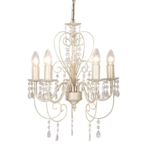distressed chandeliers distressed white shabby chic 5 way smd led ceiling light