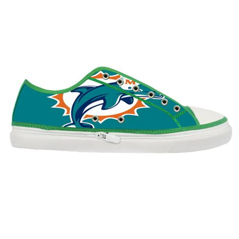 miami dolphins sneakers miami dolphins logo custom canvas shoes by