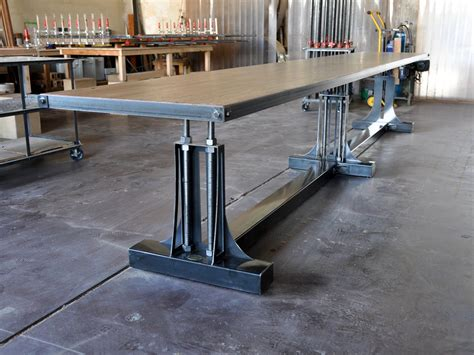 Industrial Conference Table Post Industrial Conference Table Vintage Industrial Furniture