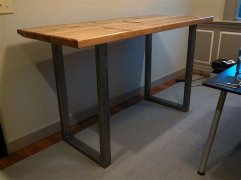 custom standing desk statim industrial standing desk with steel tubing metal u legs