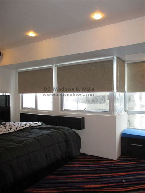 blackout roller shades warms your bedroom during cool