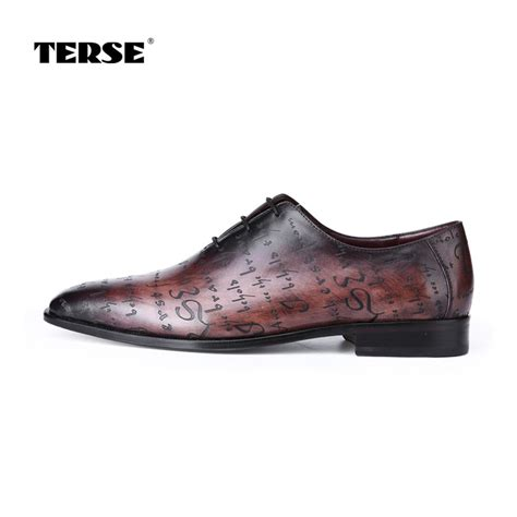 Handmade Mens Oxford Shoes - aliexpress buy terse vintage leather dress shoes