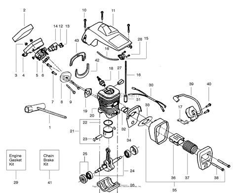 poulan pro chainsaw parts diagram poulan craftsman 358 351082 gas chain saw parts diagram