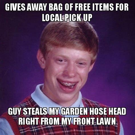 Pick Up Guy Meme - gives away bag of free items for local pick up guy steals