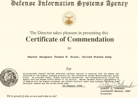 commendation certificate template certificate of commendation