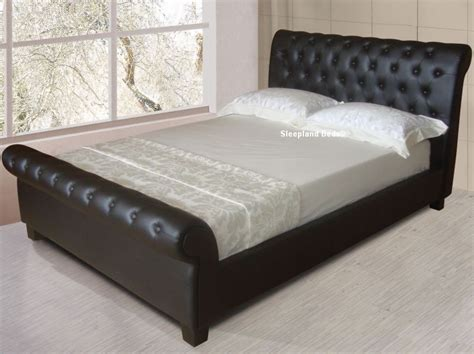 sleigh beds for sale enchanting king size leather sleigh bed with king size
