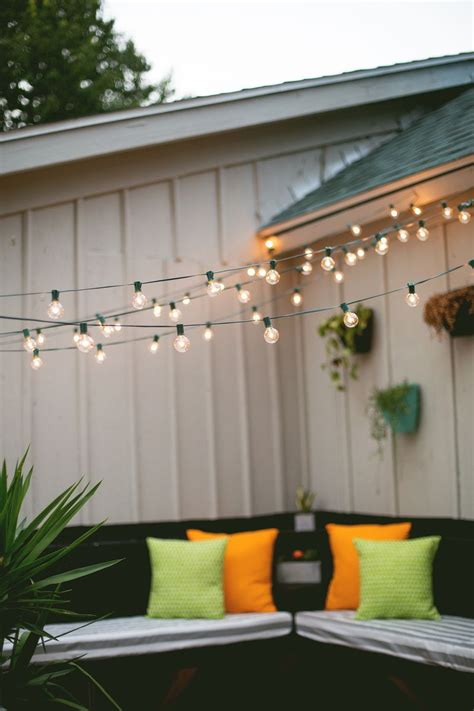 Diy Outdoor Globe String Lights Home Kitchen Seasonal Outdoor Hanging Lights Patio