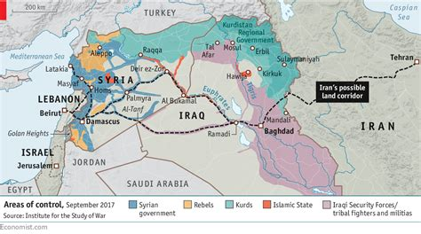map of iran and syria the growing power of iran and hizbullah worries israel