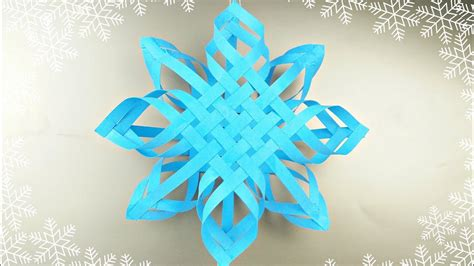 3d Origami Snowflake - modular 3d origami snowflake frozen easy paper