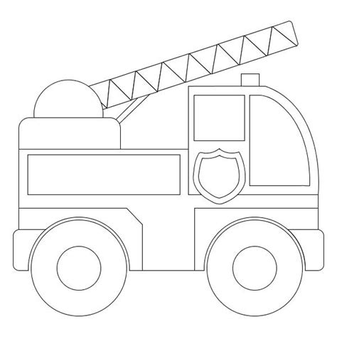 Simple Fire Truck Coloring Page | outstanding fire truck coloring pages with fire truck