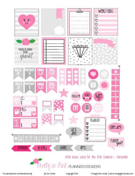 Pinkglam Auction Template 2 by Planner Stickers Free Planner And Planners On