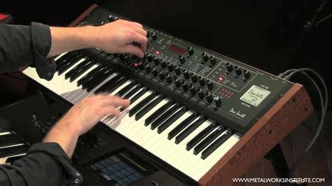 Keyboard Synthesizer analog synth demonstration keyboard tutorial