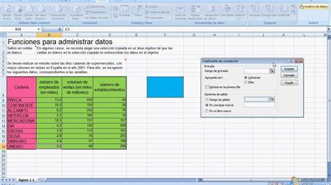 tutorial excel regresion lineal tutorial excel coeficiente de correlaci 243 n youtube