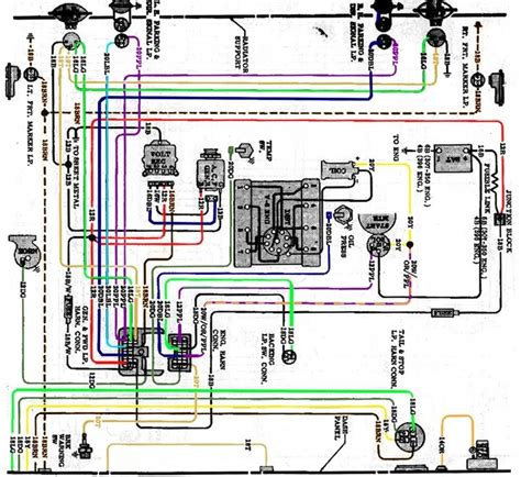 1972 chevy c10 instrument cluster wiring diagram 1972