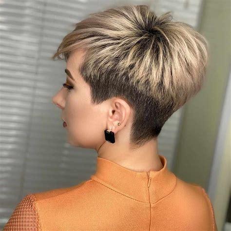 trendige sehr kurze haarschnitte fuer frauen  trends
