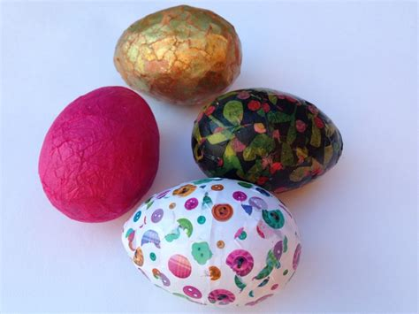 Decoupage Egg Patterned Tissue Paper Easter Egg
