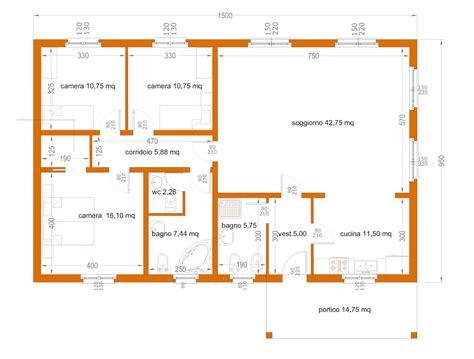 pianta casa 120 mq progetti di in legno casa 142 mq portico 15 mq