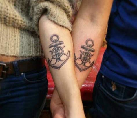 anchor couple tattoos 34 matching tattoos all will appreciate