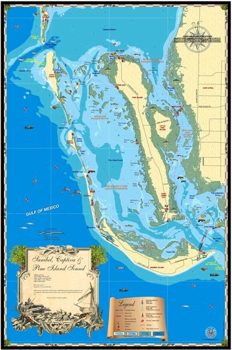 map of the islands and florida florida maps sanibel captiva and pine island island