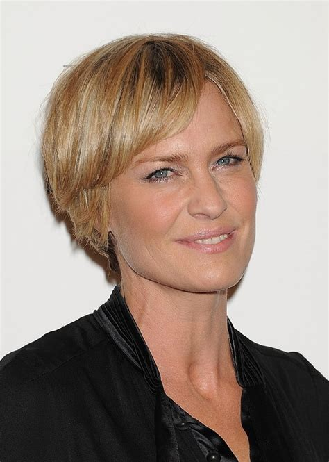 Wright Hairstyles by Robin Wright Layered Razor Cut With Bangs