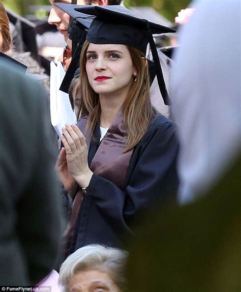emma watson graduation emma watson graduates brown university with armed guard