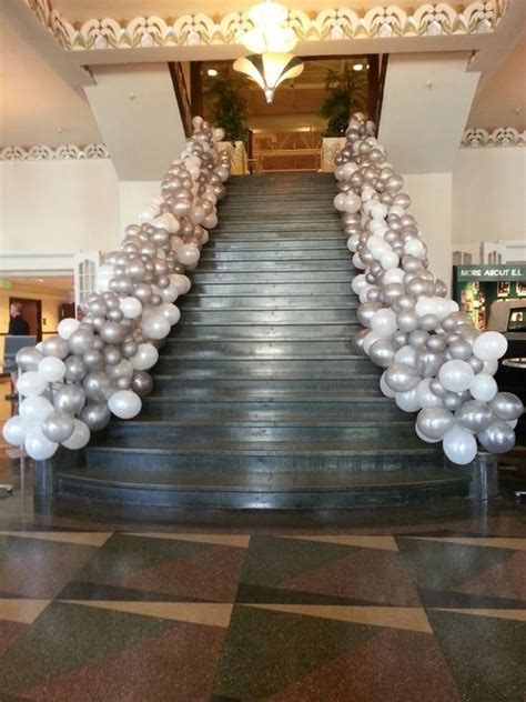 prom theme names with gold balloons stairs and gatsby on pinterest