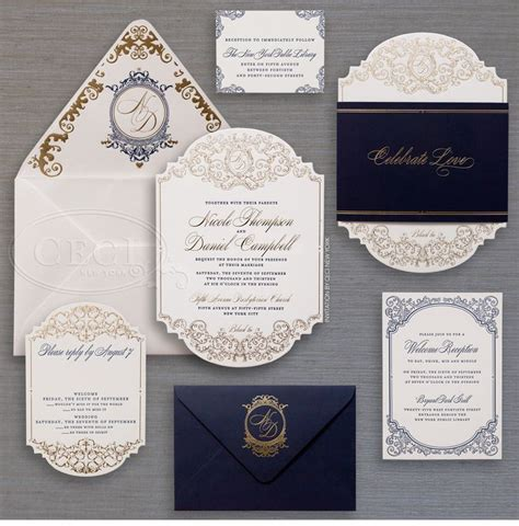 Luxury Wedding Invitations by Luxury Wedding Invitations By Ceci New York Wedding