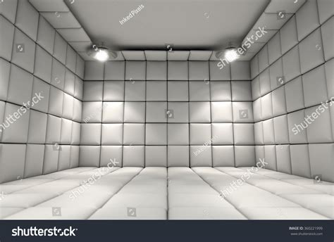 padded white room white padded cell mental hospital stock illustration 360221999