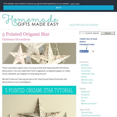 Folding 5 Pointed Origami Comot - folding 5 pointed origami ornaments comot