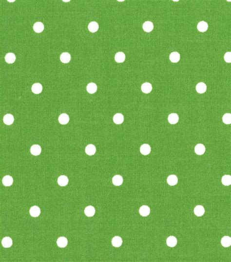 Geos Albian Green Polka cotton fabric white polka dots on green print dots are 3 16 quot by the yard from